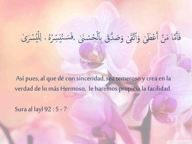 sura al layl versos 5 al 7