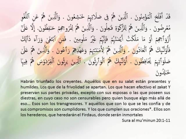 sura al muminun 20 1-11